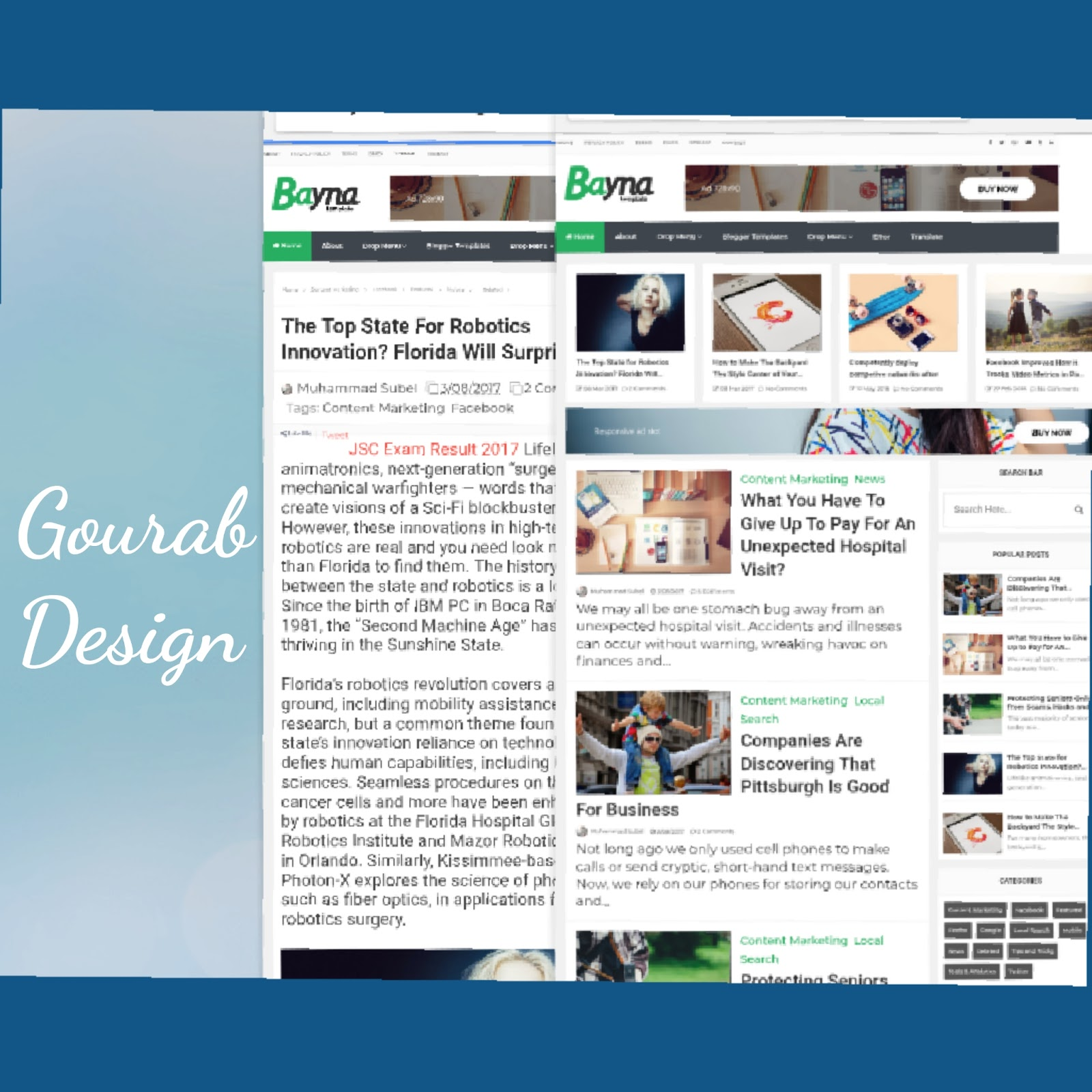Bayna Blogger Template Premium Version Patched Here by Gourab ...