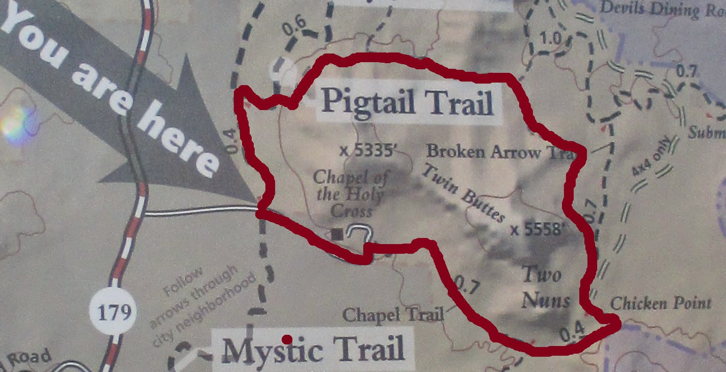 the route we took is shown in red on the above map