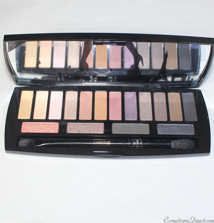 Review and swatches of Lancome Auda[City] in Paris Eyeshadow Palette and eye makeup looks.