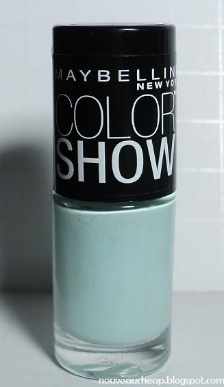 Review And Comparison Maybelline Summer 2013 Limited Edition Color Show Nail Lacquer In Mint
