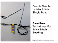 Click the image to view the double needle ladder stitch beading tutorial.