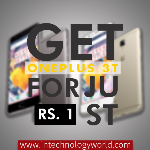 get oneplus 3t for rs.1