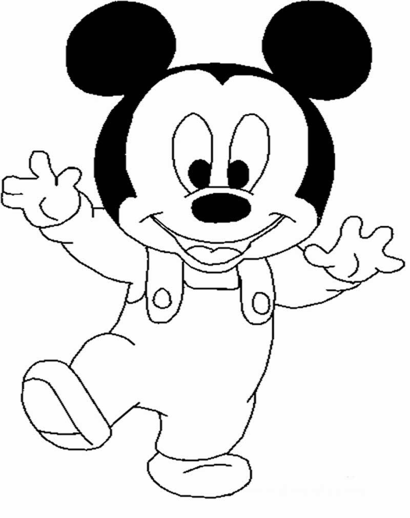 Gambar Kartun Mickey Mouse Untuk Mewarna Pewarna C