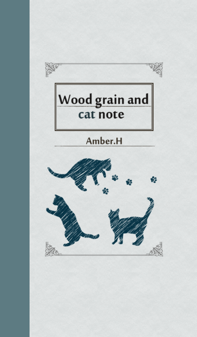 Wood grain and cat note No2