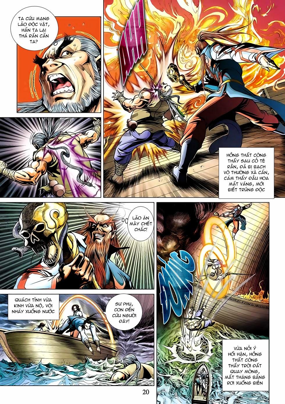Anh Hùng Xạ Điêu anh hùng xạ đêu chap 53: lâm nguy thụ mệnh đả cẩu học pháp trang 21