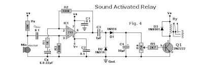 Audio signal activated relay