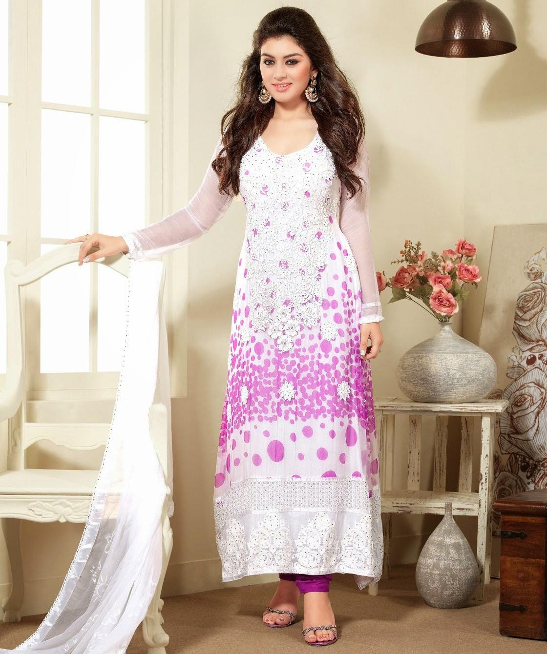 Simple Salwar Kameez Designs 2014-15 | Girls Simple Salwar ...