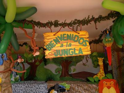 Decoraci n animales de la selva - Como hacer lazos decorativos ...