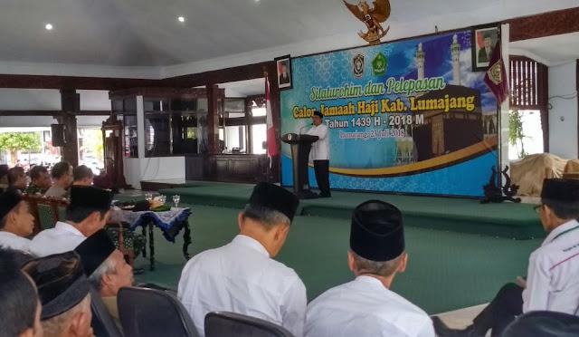 Bupati dalam Kegiatan Silaturahmi dan Pelepasan JCH Lumajang