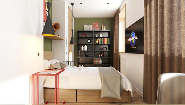 Thiết kế căn hộ màu xanh dương
