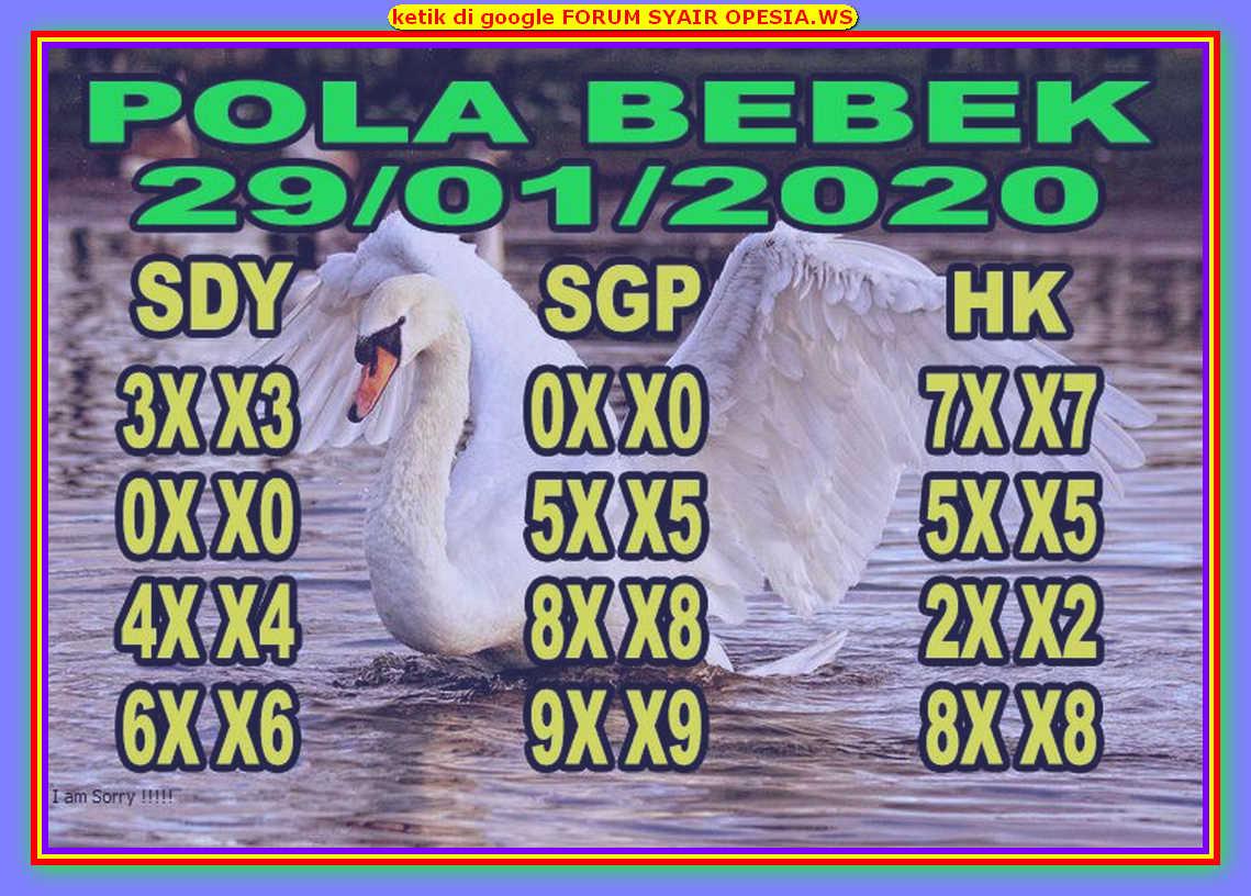 Kode syair Hongkong Rabu 29 Januari 2020 88
