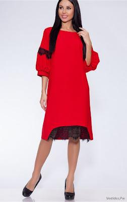 Vestidos Rojos con Encaje