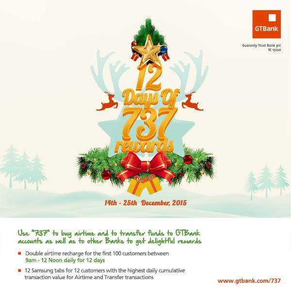 GTBANK 12 DAYS OF 737 REWARDS  WIN AIRTIME & PHONES | You