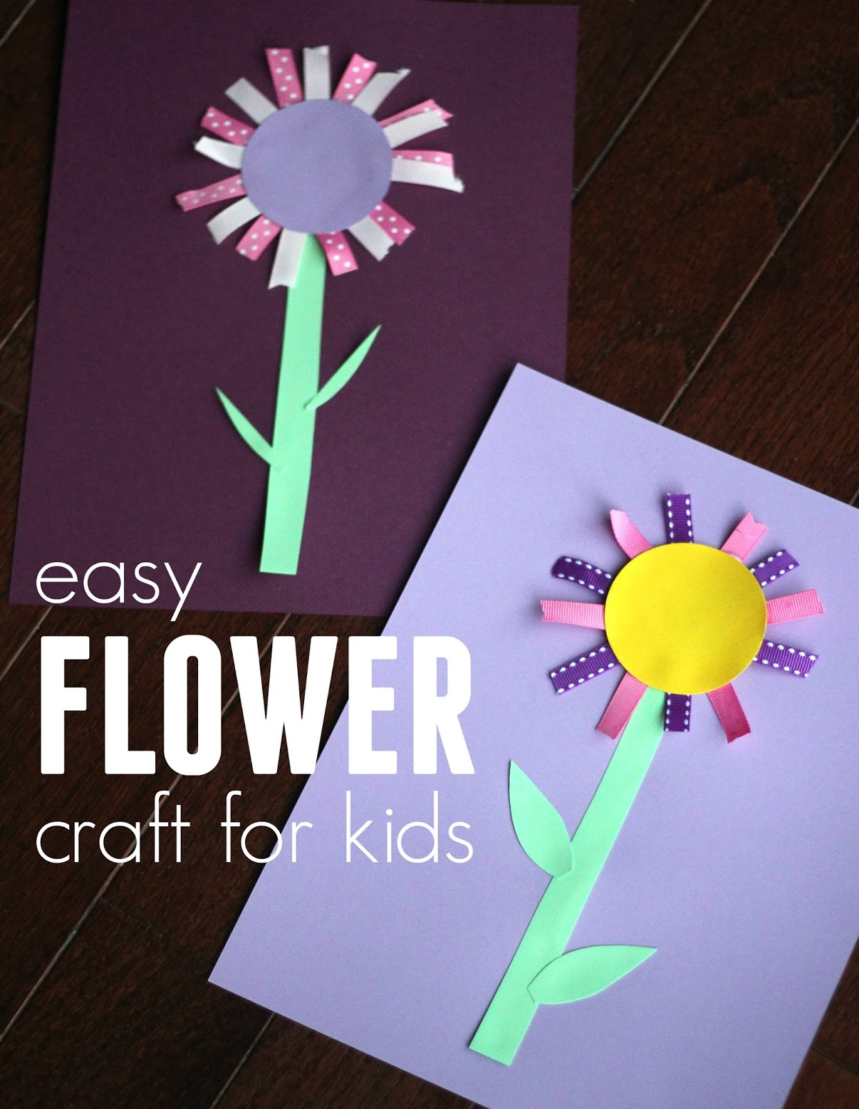 Colorful Ribbon Flower Craft for Kids   Toddler Approved    Bloglovin  View original