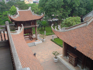 The Temple of Literature in Hanoi (Vietnam). Van Mieu (Van Mieu)