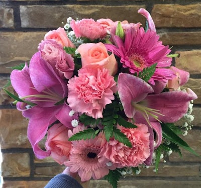 Perfectly Pink Prom or Wedding Clutch Bouquet by Stein Your Florist Co.