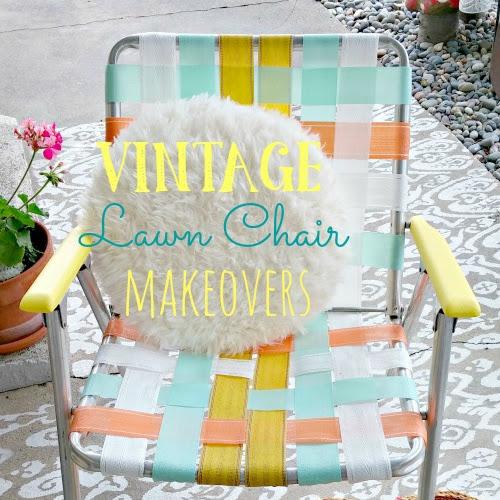 Vintage Lawn Chair Makeovers - Weekend Yard Work Series