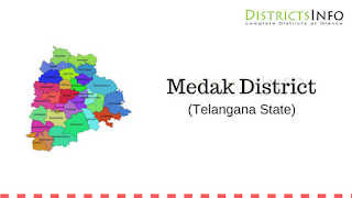 Medak District With New Mandals - Telangana State