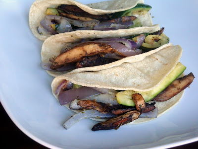 Portobello and Zucchini Tacos