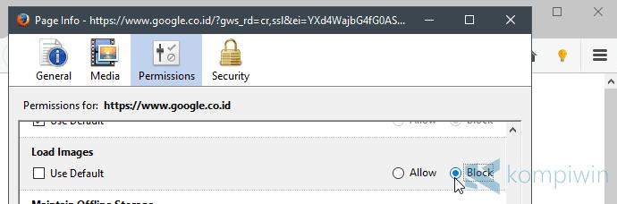 menghilangkan gambar di semua browser pc