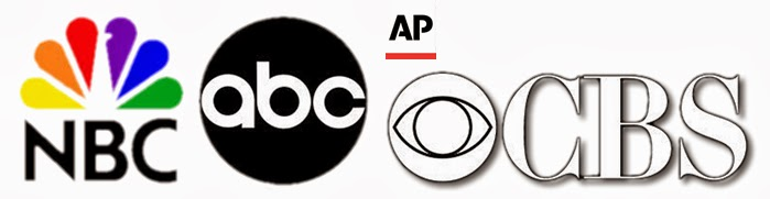 ABC, NBC and CBS logos - Obama's Wall Street handlers gag Mainstream Media