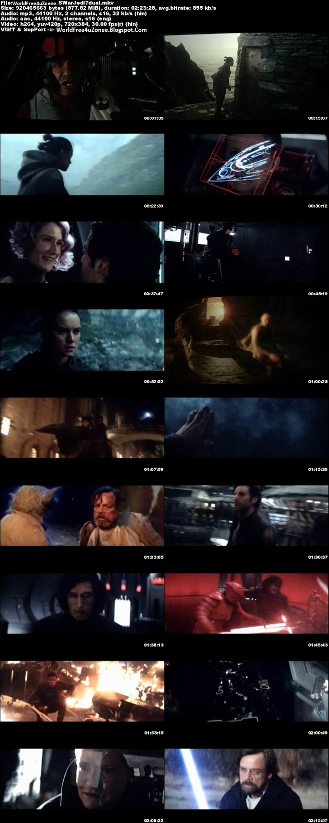 Star Wars The Last Jedi (2017) Dual Audio HDCAM 720p 850MB Full Movie Free Download And Watch Online Latest Hollywood Hindi Dubbed Dual Audio Movies 2017 Free At WorldFree4uZonee.Blogspot.Com