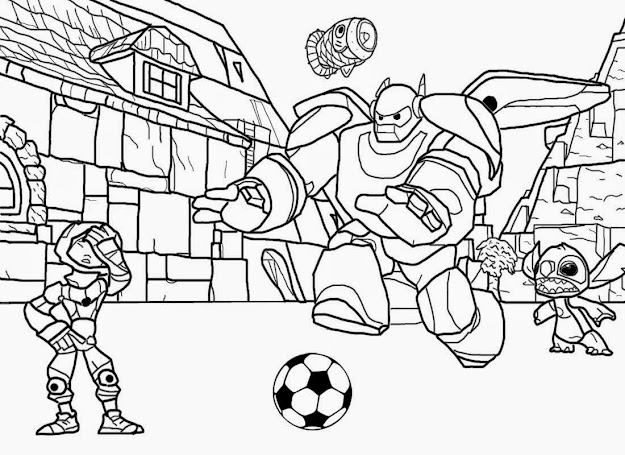 Family Football Magazine Disney Printables Cartoon Big Hero  Coloring Pages  For Teenagers Drawing