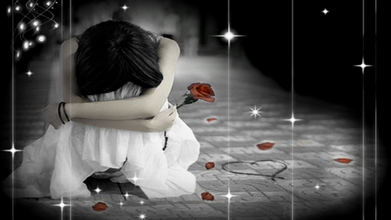 Hd wallpapers for desktop android phones sad lonelly - Wallpaper very sad girl ...