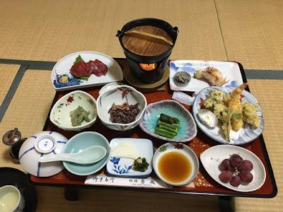 旅館勇蔵の夕食