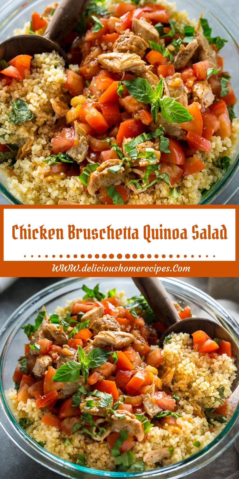 Chicken Bruschetta Quinoa Salad