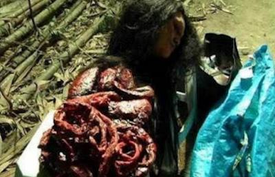 Gempar!!!!  Masyarakat Kalimantan Tangkap Hantu Kumokodong Sedang Makan Orok, Sungguh Mengerikan....