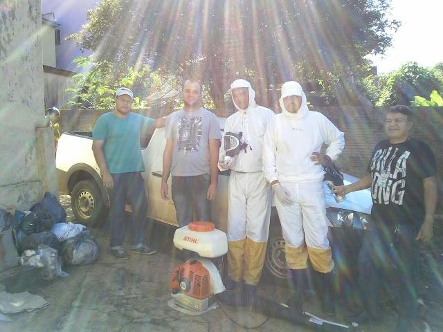 Funcionários da Vigilância Sanitária realizam  bloqueio contra a dengue em Borrazópolis