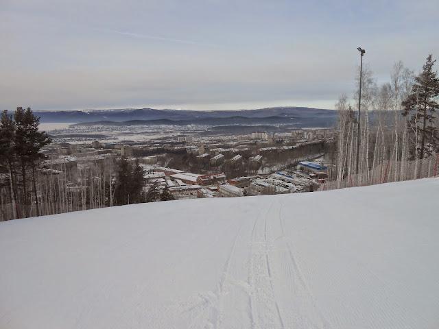 Вид с горы на Миасс