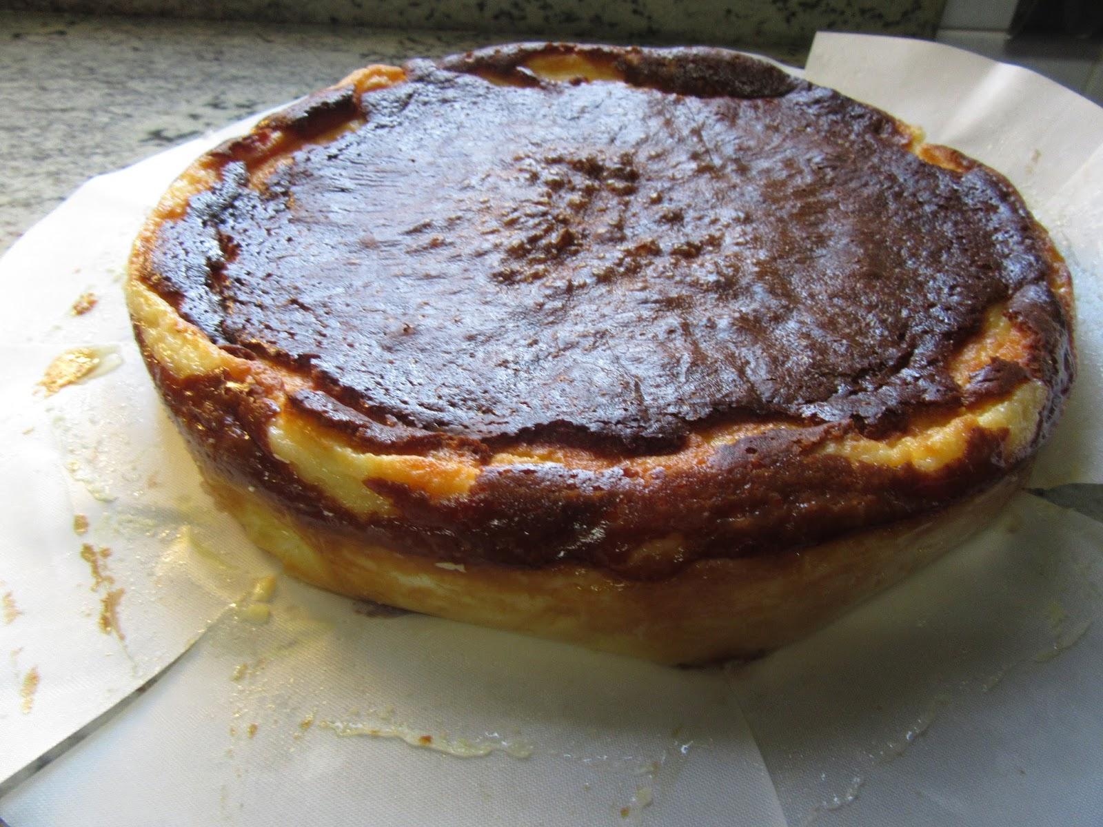 Tarta de queso La Viña, con Thermomix, tradicional y Olla GM.
