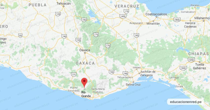 Temblor en México de Magnitud 4.1 (Hoy Miércoles 22 Enero 2020) Sismo - Epicentro - Río Grande - Oaxaca - OAX. - SSN - www.ssn.unam.mx