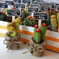 cactus crochet bomboniere comunione Mia