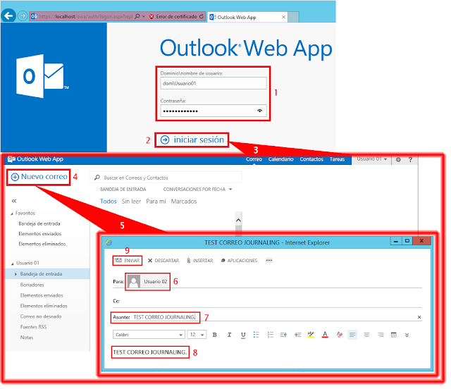 Outlook Web App. Usuario 02