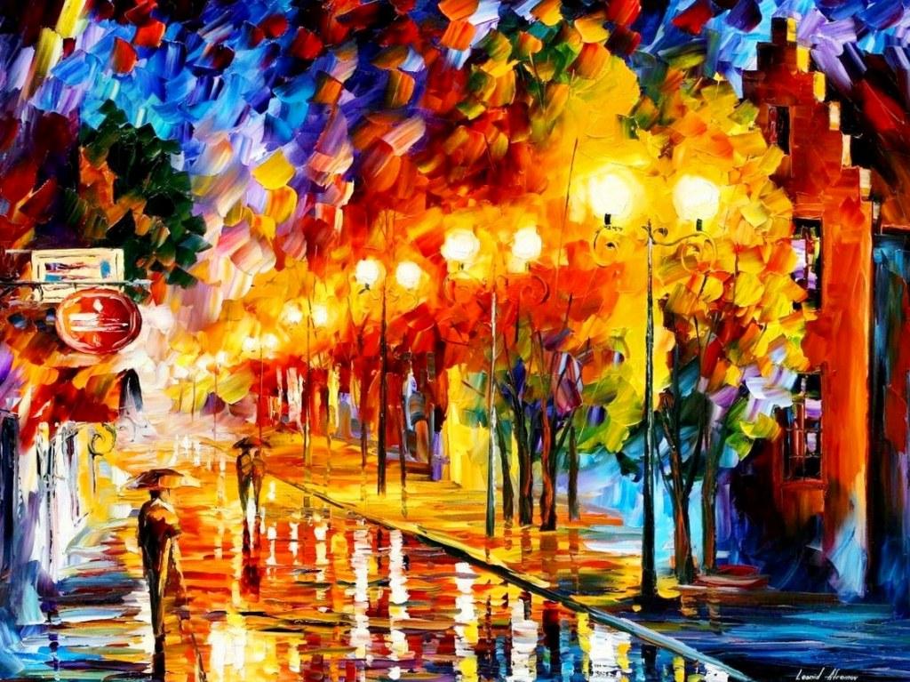 Im genes arte pinturas pintura al leo con esp tula for Pintura ligera de color topo