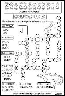 Cruzadinha com a letra J