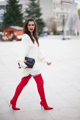 Botas de color rojo