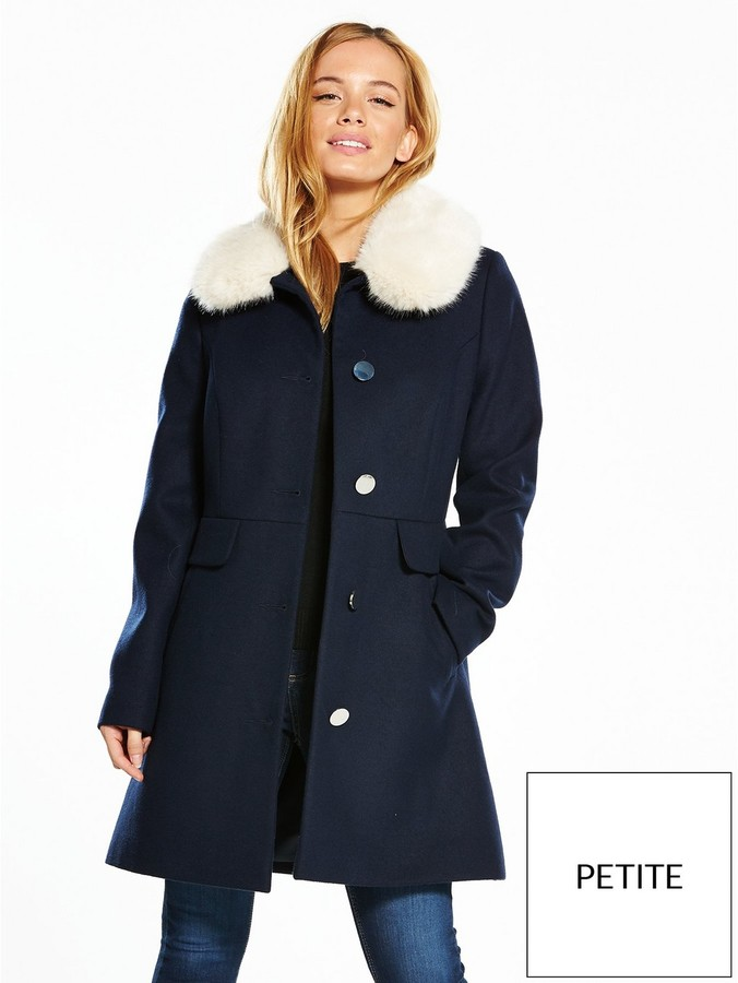 v by very petite dolly fur coat