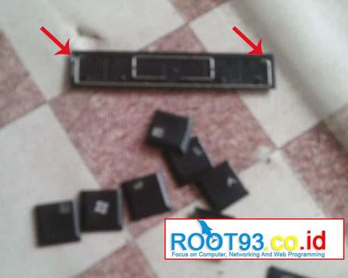 tombol keyboard dengan besi