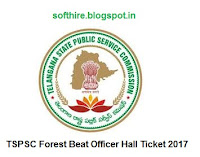 TSPSC Forest Beat Officer Hall Ticket