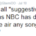 NBC bans songs perceived as 'suggestive'?