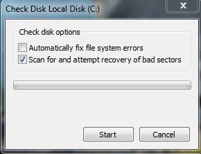 Check for Disk Errors