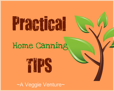 Practical Home Canning Tips for both new and experienced home canners ♥ AVeggieVenture.com, the practical stuff, what to do before (and after) you start canning.