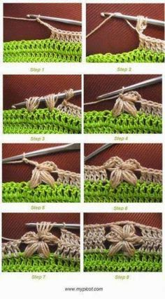 Cómo tejer una flor entre varetas al crochet