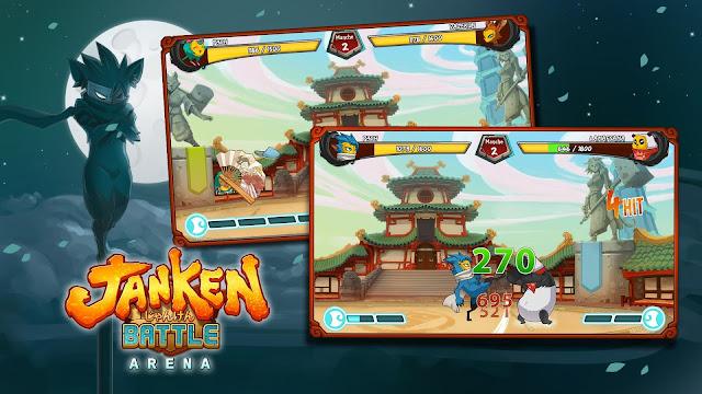 Ayo main batu, gunting, kertas dalam duel seru JanKen Battle Arena