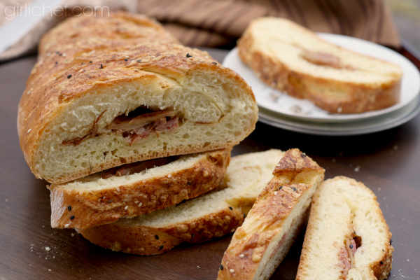 Havarti Ham Apple Braid #bread | allroadsleadtothe.kitchen