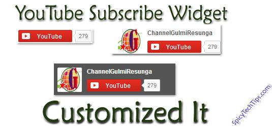 customized youtube subscribe widget